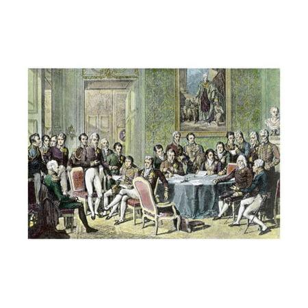 Painting of Vienna Congress Delegates by Johann Baptist Isabey' Print Wall Art