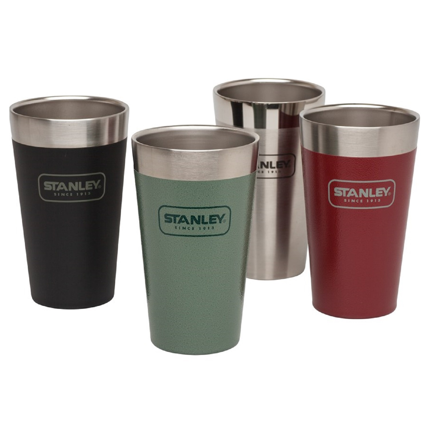 Assorted Colors 16oz Stanley Adventure Stacking Vacuum Pint Glass 4-Pack