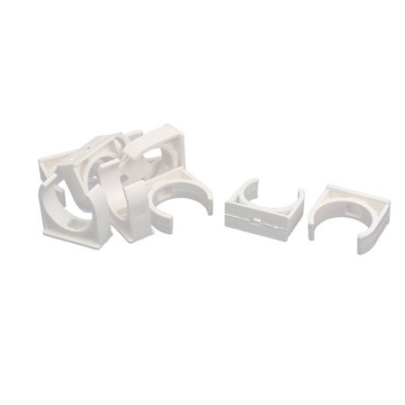 32mm Dia PVC U Shaped Pipe Fitting Clamps Clips Water Tube