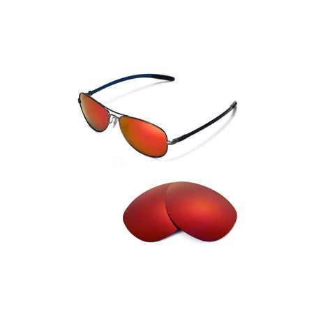 Walleva Fire Red Polarized Replacement Lenses for Ray-Ban RB8301 59mm Sunglasses