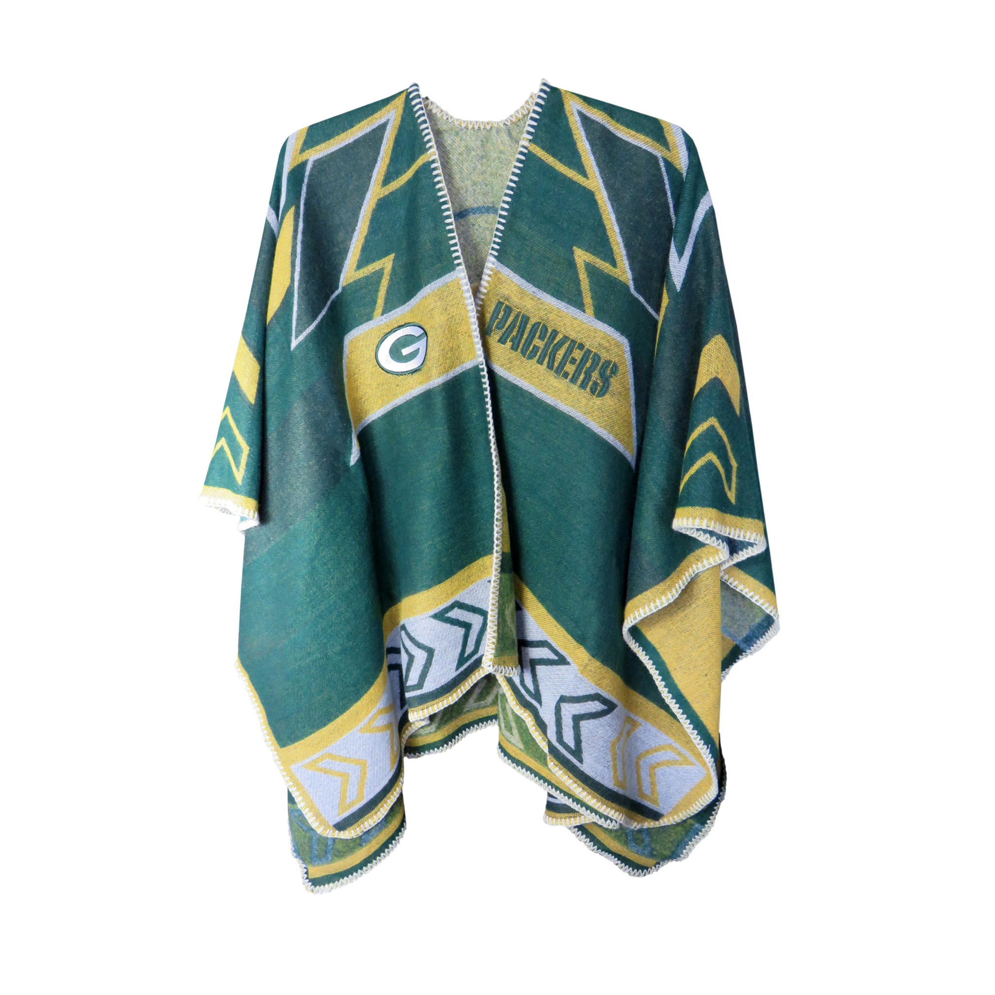 Click here to buy NFL Green Bay Packers Whipstitch Poncho, One Size by Little Earth.