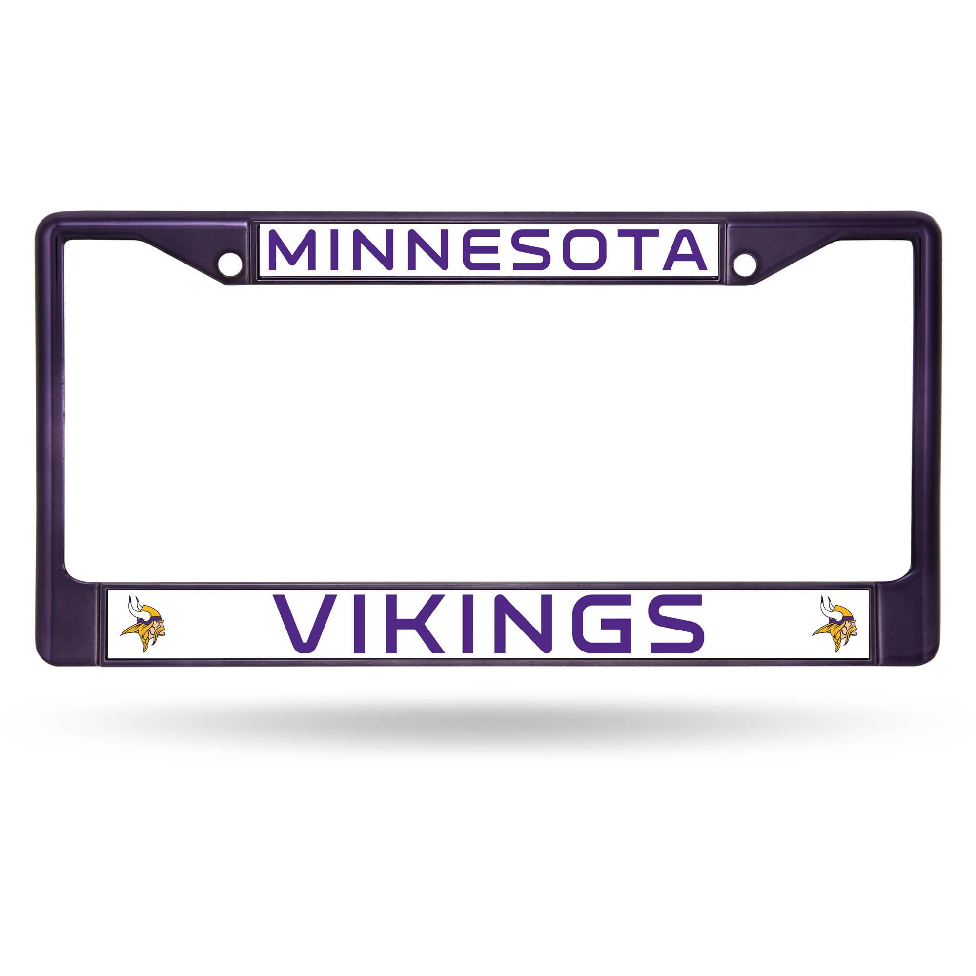 Rico Industries NFL Color License Plate Frame, Minnesota Vikings