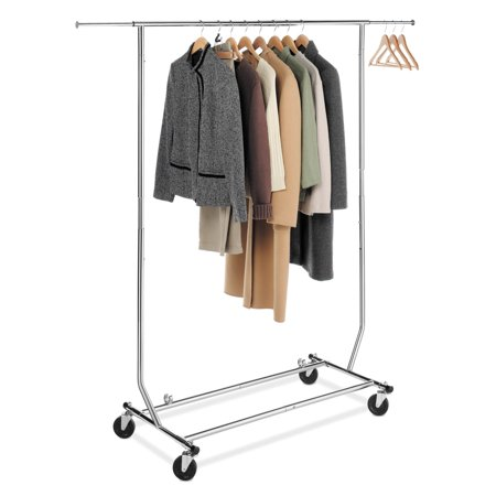 chrome steel commercial rolling garment rack - Walmart Halloween Commercial