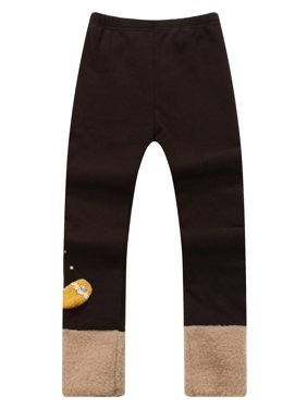 Richie House Girls' cute tight pants with cocheted bow RH1056