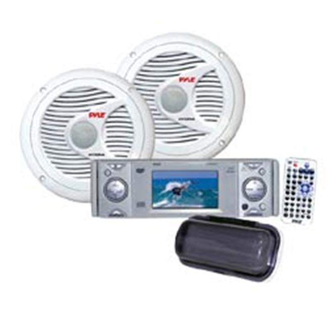 AM-FM-MPX In-Dash Marine CD-MP3 Player with Full Face Detachable Panel