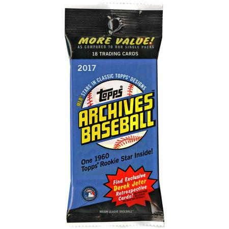 Mlb 2017 Topps Archives Baseball Cards Trading Card Value Pack