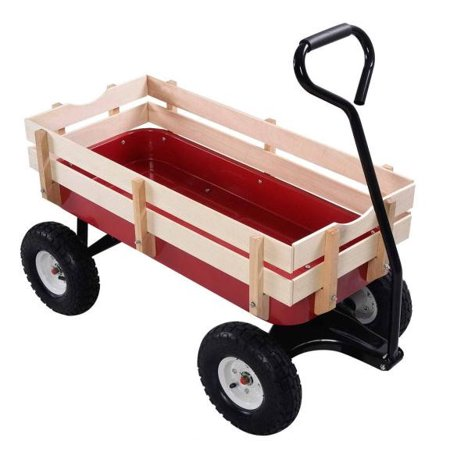 Gymax Wagon ALL Terrain Pulling Children Kid Garden Cart Outdoor