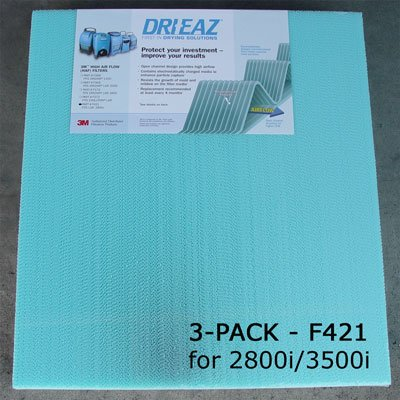 3MTM F421 Dehumidifier Filter for Dri Eaz LGR2800i, LGR-3500i - Lot of 3