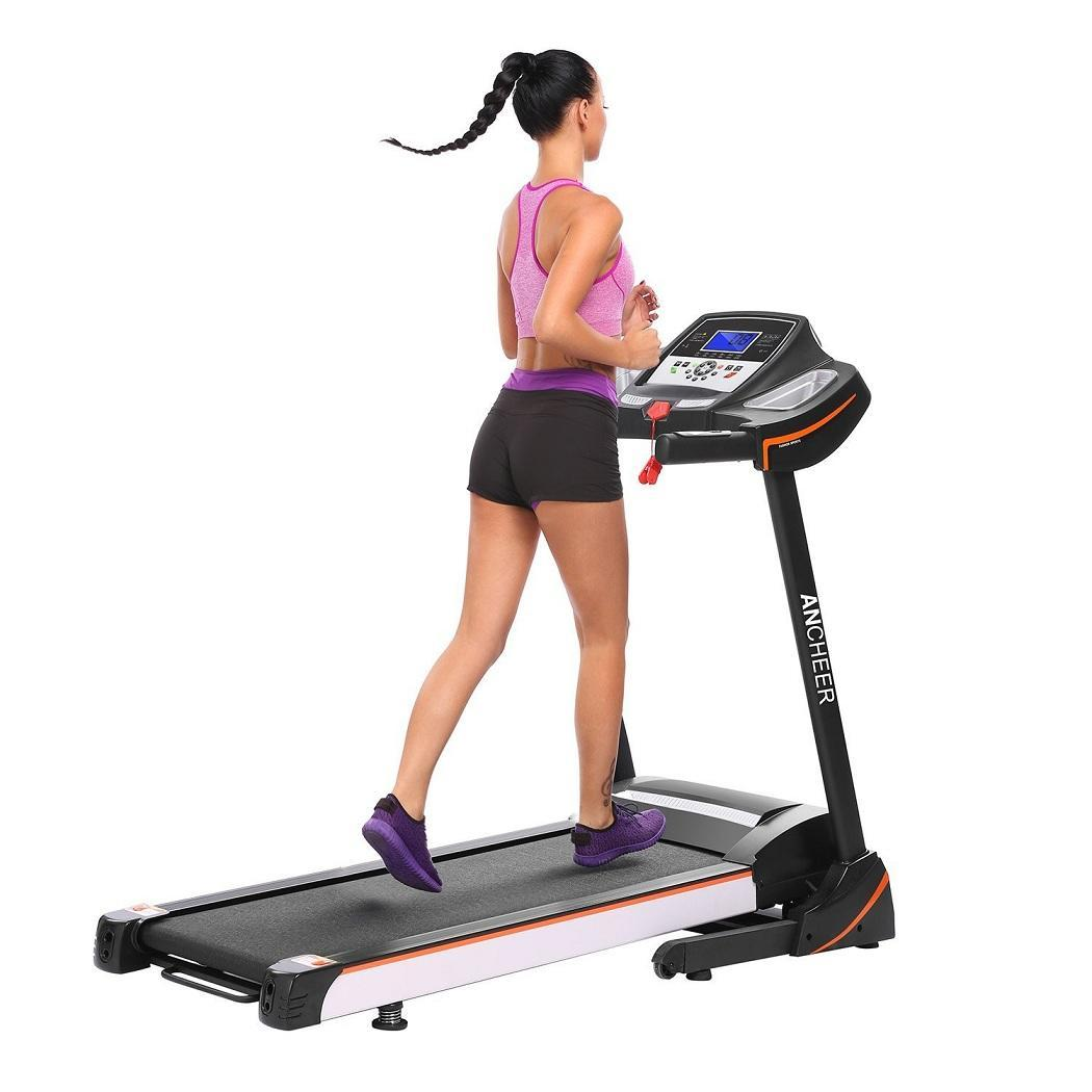 4.5 HP Foldable Electric Treadmill Exercise Equipment Walking Running Machine With 15% Power Incline And... by