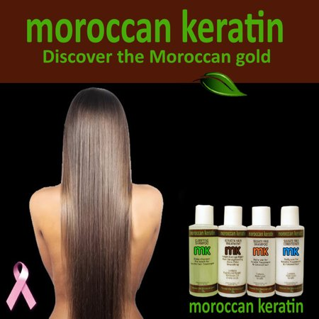 Moroccan Keratin Most Effective Brazilian Keratin Hair Treatment SET of 120ml x4 Professional Salon Results at