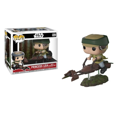 Funko Pop  Deluxe Star Wars  Leia On Speeder Bike