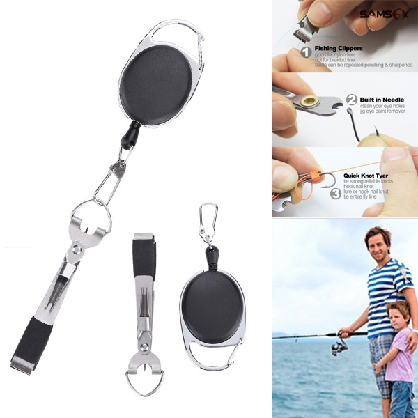 Fishing Line Clipper with Hook Eye Cleaner Needle Line Cutter
