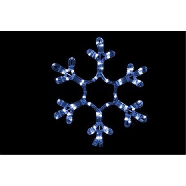Winterland WL-SNOWF-12-BL 12 in. Ropelit Snowflake LED Blue