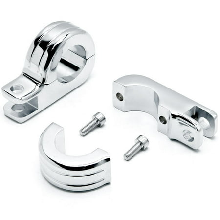 "Chrome 1-1/4"" Engine Guard Tube Bar Footpeg Clamps For Harley Davidson Roadster XLS 1984-1985 - image 1 de 5"
