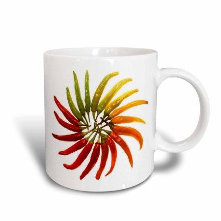 3dRose Red Hot Chili Peppers - chili, chili pepper, chilli, chilli peppers, pepper, peppers, red, Ceramic Mug,