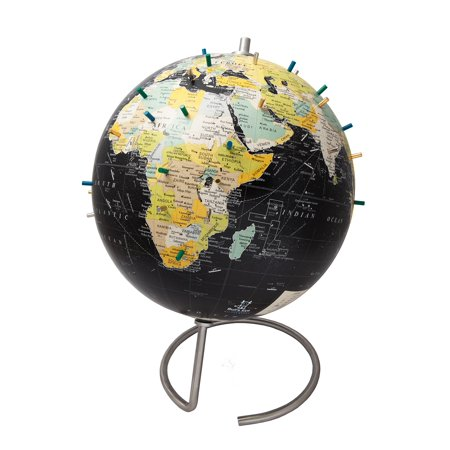 Bullseye Vintage Black Magnetic World Globe - 10