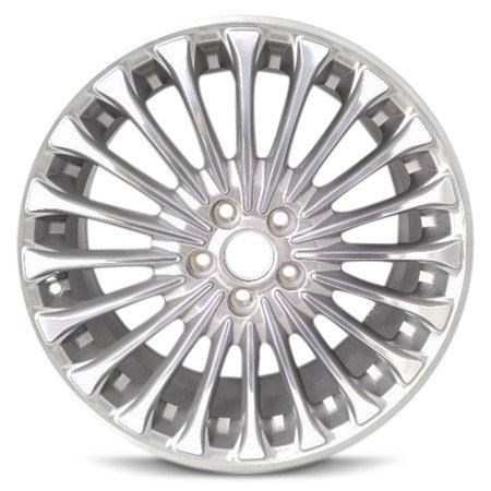 Aluminum Alloy Wheel Rim 18 Inch 13-16 Ford Fusion 20 Spoke Polished Gray Pocket Alloy Wheel 5 Double Spoke