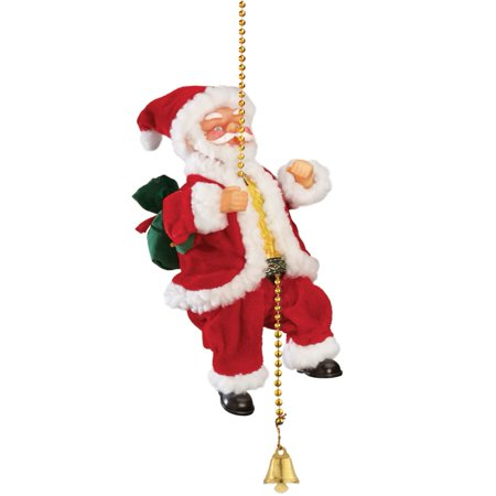 animated musical climbing santa on chain - Musical Animated Christmas Decorations
