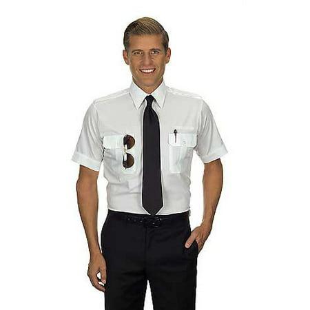 Van Heusen Mens Pilot Shirt   Short Sleeve   Tallman