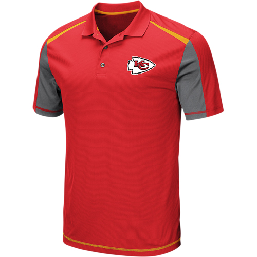 Men's Majestic Red Kansas City Chiefs Draft Prize Polo