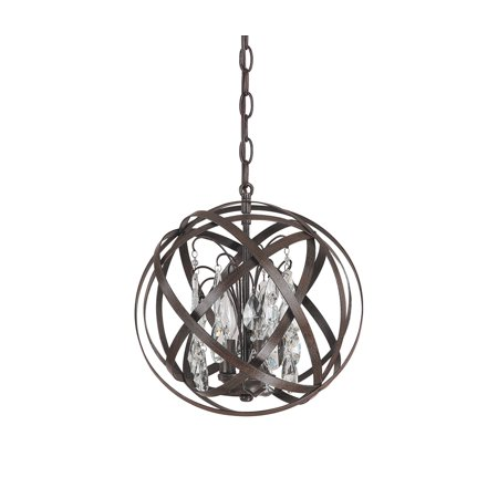 Capital Lighting Axis Russet 3 Light Pendant With Crystals Included