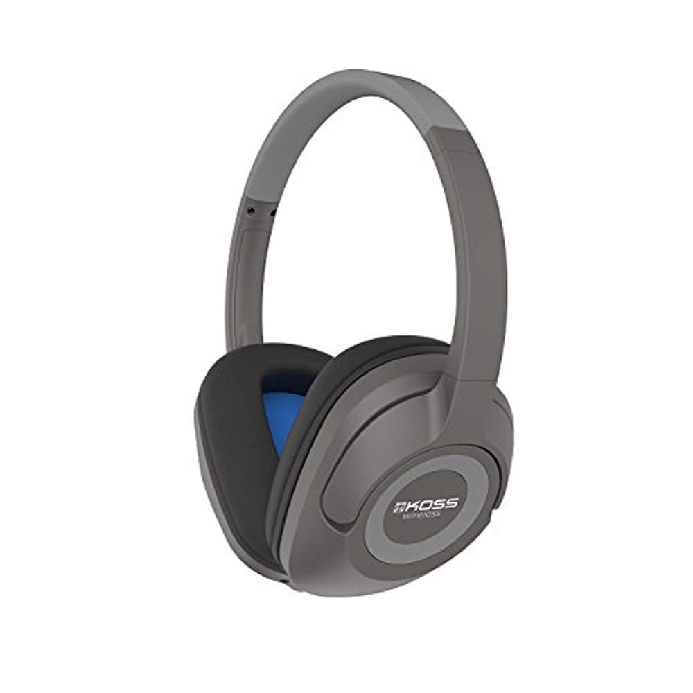 Koss BT539iK Wireless Bluetooth Over-Ear Headphones, Mic, Volume Control Grey by Koss
