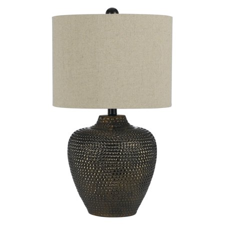 AF Lighting Danbury Textured Ceramic Table Lamp, Brown