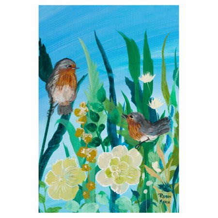 Toland Home Garden Birds n Blossoms Flag