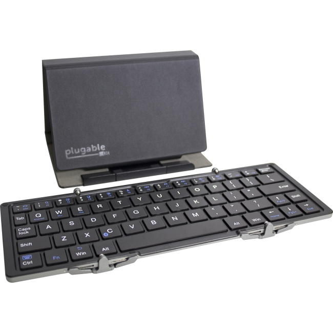 Plugable Ultra-Portable Bluetooth Folding Keyboard for Android, iOS, Windows with Protective Case / Tablet Stand