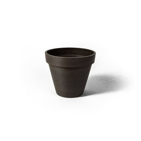 Algreen Valencia Planter, Round Banded Planter, 20-In. Diameter by 16-In.H, Spun Chocolate (Diameter Planter)