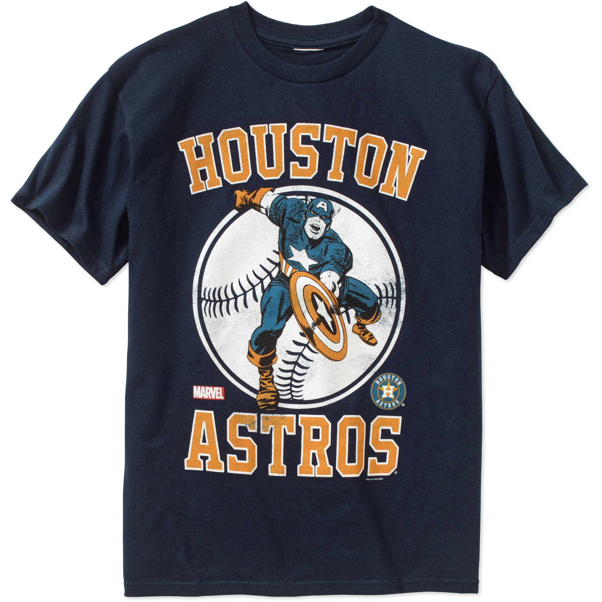 MLB Houston Astros Boys Marvel Captain America Tee