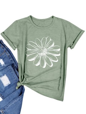 Women Flower Graphic Printed T-Shirt
