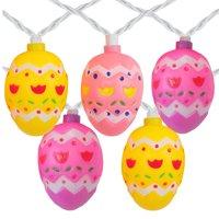 10-Count Pastel Multi-Color Easter Egg String Light Set, 7.25ft White Wire