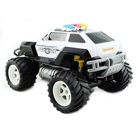 prextex remote control monster police truck radio control police car toys for boys rc car with - Best Christmas Gifts For 12 Yr Old Boy