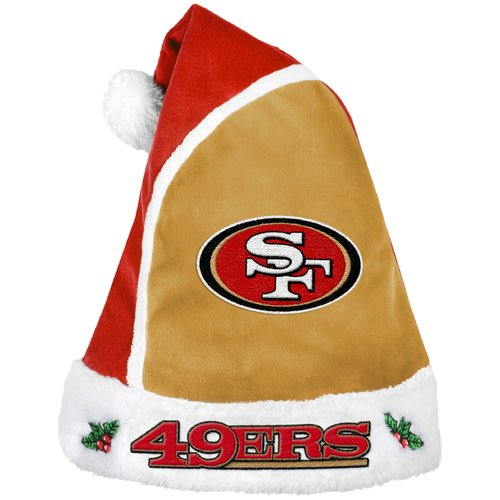Forever Collectibles NFL 2015 Santa Hat, San Francisco 49ers