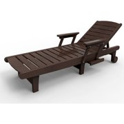 Chaise Lounge by Malibu Outdoor - Delray, Dark Brown