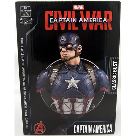 Captain America Civl War 7 Inch Bust Statue Marvel Movie Series - Captain America Classic Bust - image 1 of 2