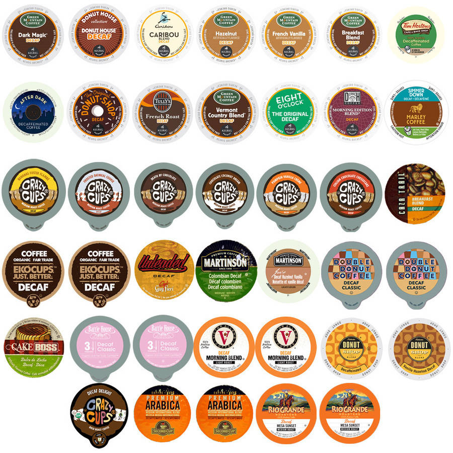 Decaf Coffee Single Serve Cups Variety Pack Sampler, 40 count