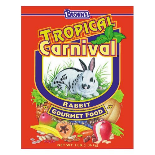 F.M. Brown's Tropical Carnival Rabbit Food, 5-Pound Multi-Colored