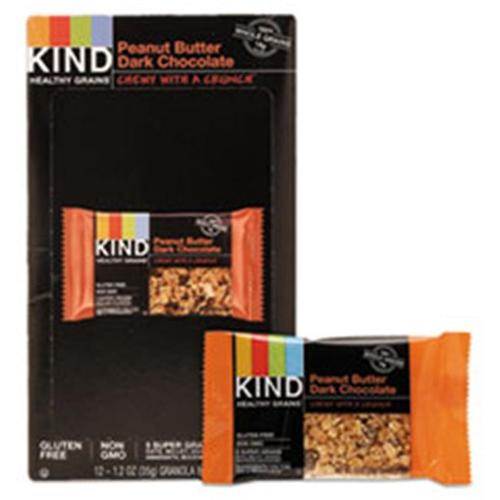 KIND Healthy Grains Bars, Peanut Butter Dark Chocolate, 1.2 oz, 12 Count