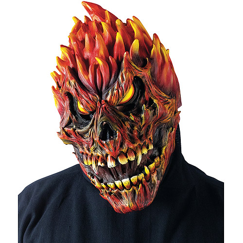 Fearsome Faces Adult Halloween Skull Mask