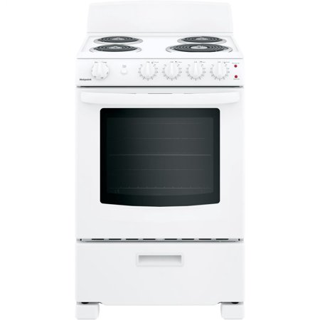 Hotpoint RAS300DMWW 24 Inch Electric Freestanding Range White