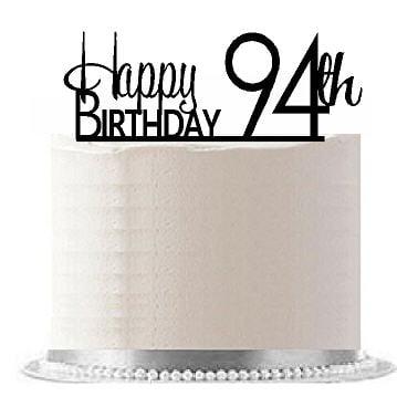 ItemAE 198 Happy 94th Birthday Agemilestone Elegant Cake Topper
