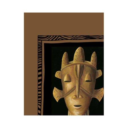 African Art Mask (African Mask II Print Wall Art By Chariklia Zarris )