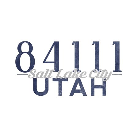 Salt Lake City, Utah - 84111 Zip Code (Blue) Print Wall Art By Lantern Press](Salt Lake City Halloween Party)