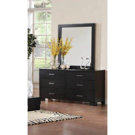 Simple Relax London Black 6 Drawer Dresser And Beloved Mirror