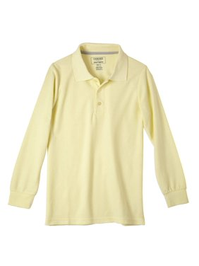 Cherokee Boys School Uniform Long Sleeve Polo Shirt (Little Boys & Big Boys)