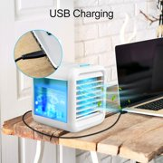 Personal Air Cooler, Personal Air Conditioner for Office Desk, Small Portable Air Conditioner, Mini Air Conditioner Room Cooler with Built-In LED Night Light