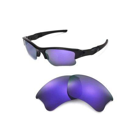 a563938c5c1 Walleva Purple Polarized Lenses And Green Rubber Kit For Oakley Flak Jacket  XLJ Sunglasses