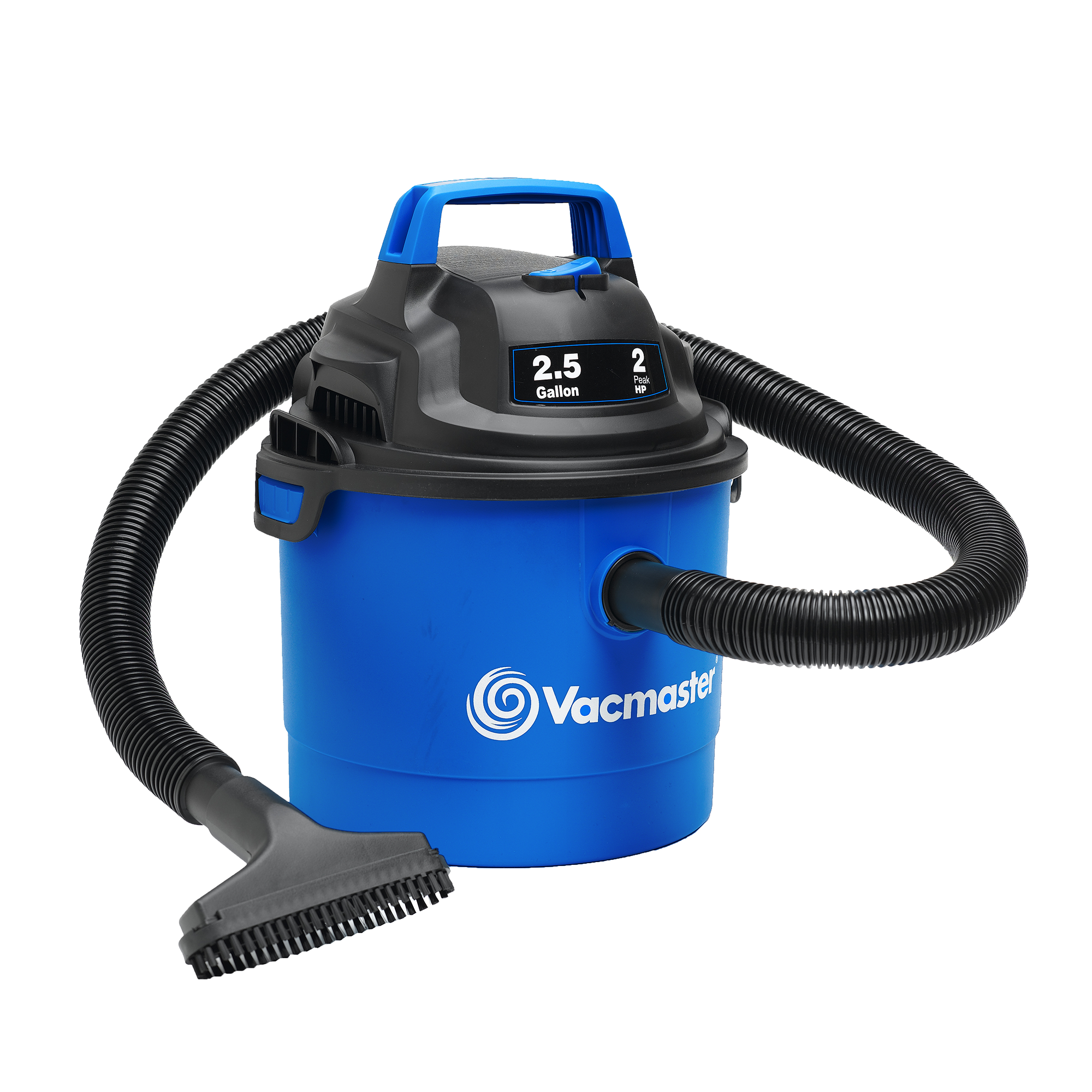 Vacmaster 2.5-Gallon Portable Wall-Mountable Wet/Dry Vacuum, VOM205P